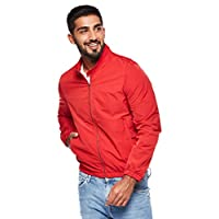 OVS Men's 191JKTJORGE-435 LONG JACKET WITH SHRINKAGE, Red (Fiery Red 1163), Medium