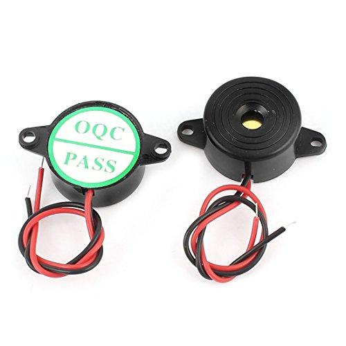 2stk. Schwarz DIY Projekt DC3-24V Kontinuierlich Sound Elektronisch Alarm Summer 10-pin Sounder