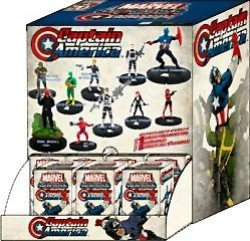 Marvel Heroclix Captain America Single Booster by WizKids (America Booster)