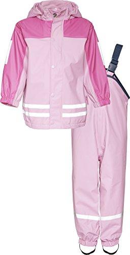 Playshoes Regen-Anzug mit Fleece-Futter 408698 Unisex - Kinder Regenmntel, Gr.128 (Herstellergröße: 7-8 Jahre), Rosa (730)