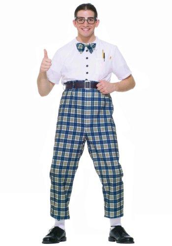 Adult 50s Class Nerd Costume Fancy Dress