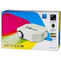 جهاز عرض إتريندز Uc30 LED 150 لومن هوم ميني ليد 30-100 بوصة يدعم شاشة 1080 بكسل فل اتش دي دي ام آي / vga/usb/av/sd/mhl - أبيض