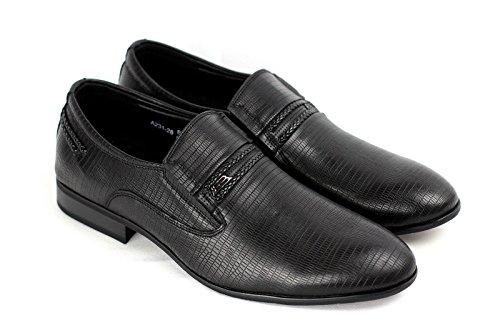 Hommes A Enfiler Chaussures Formelles Smart Noir