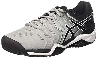 3da987261bfd1 ASICS Men s Gel-Resolution 7 Tennis Shoes Grey (Mid Grey Black White ...