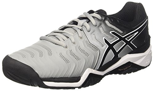 Asics Gel-Resolution 7, Zapatillas de Tenis para Hombre, Gris (Mid Grey/Black/White 9690), 42.5 EU
