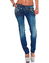 Cipo & Baxx Sexy Damen Hose Hüftjeans Regular Fit Stretch