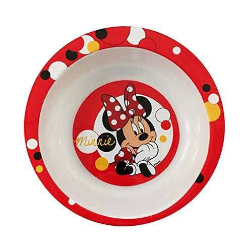Trudeau 5061158 Assiette Creuse 20 cm Minnie, Polypropylene, Blanc, 20 x 20 x 3,2 (cm)