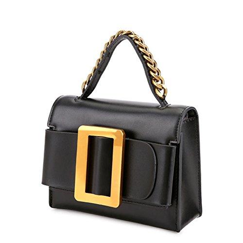 Messenger bag retro borsa singola femminile borsetta metal-A A