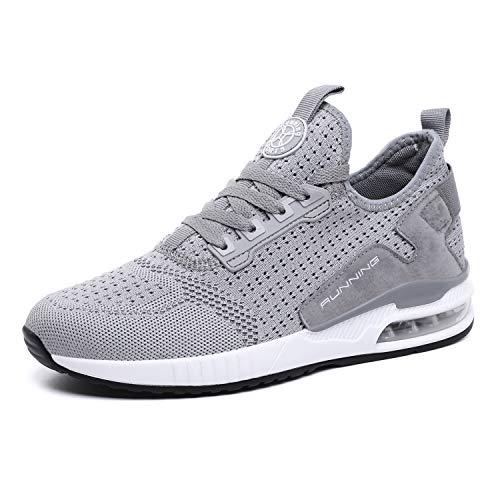 TQGOLD® Sportschuhe Herren Damen Laufschuhe Sneakers Turnschuhe Gym Fitness Leicht Schuhe(Grau,Groß 40)