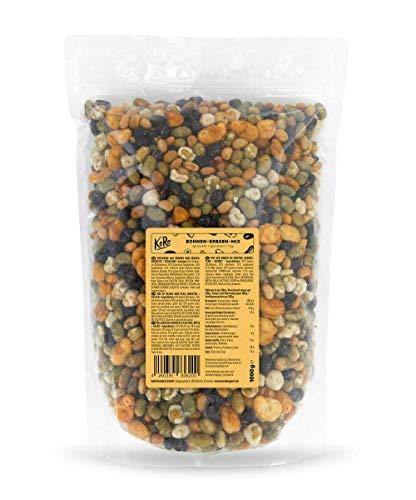 KoRo - Bohnen-Erbsen-Mix Snack 1 kg - Hülsenfrüchte Snack Geröstet und Gesalzen in Vorteilspackung
