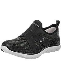 Skechers Women's Flex Appeal 2.0 New Image Low-Top Sneakers, Black/White, B(M) US