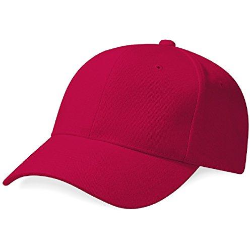 Beechfield - Casquette de Baseball 100% coton épais - Adulte unisexe Rouge - Rouge
