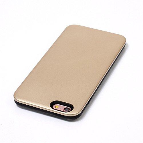 Custodia Cover per iPhone 6 plus iPhone 6S plus Case ,Ukayfe 2 in 1 Ultra Slim Casa per iPhone 6 plus iPhone 6S plus,Protettiva Custodia stampato Design PC+ Silicone ibrido impatto grande Difensore cu Doro 4#