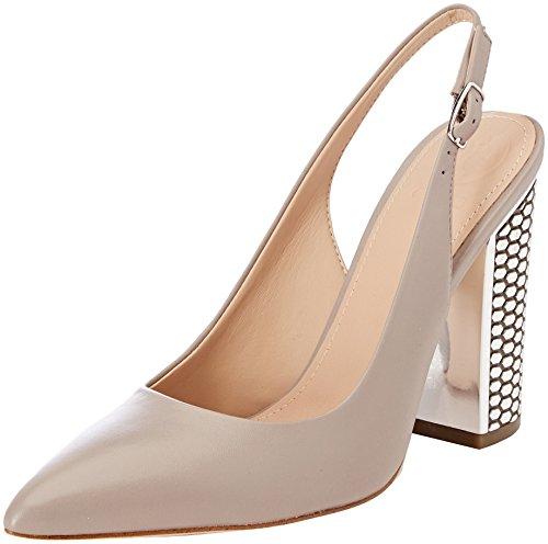 Guess Damen Footwear Dress Sling Back Pumps, Grigio (Taupe), 37 EU