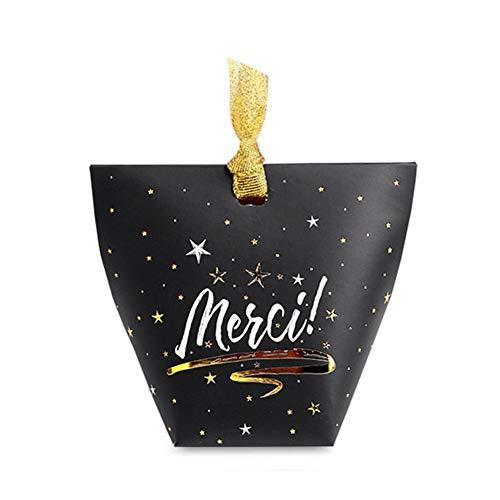Leap-G Candy Box Wedding, 30 Stück Geschenkbox, Süßigkeit Kästen Hochzeit Bevorzugungen Box Für Hochzeit, Geburtstag, Party