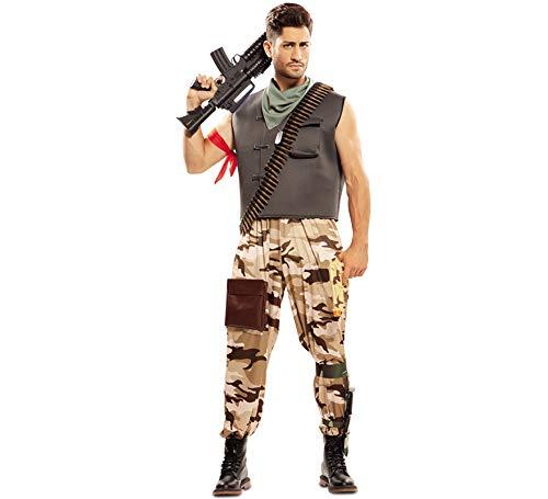 EUROCARNAVALES Disfraz de Soldado de Combate para Hombre
