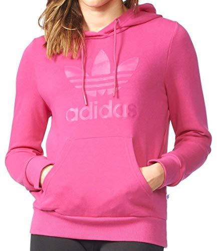 Adidas Sweater Women TRF Logo Hoodie AY9003 Pink, Size:34 -