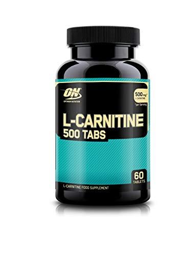 Optimum Nutrition L-Carnitine- Tabletten (500mg L-Carnitine pro Portion von ON) Unflavoured, 60 Portionen, 60 Kapseln
