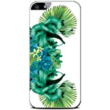 Modelabs Made In France Coque auto cicatrisante en silicone pour iPhone 4 Motif Palme Vert