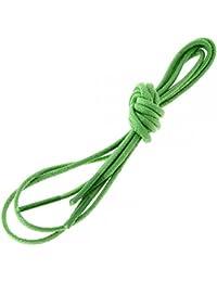 Les lacets Français - Lacets Ronds Coton Ciré Couleur Vert Pastourelle