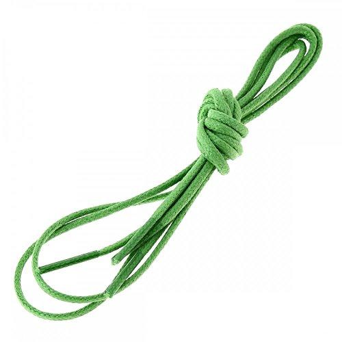 Les lacets Français Lacets Ronds Coton Ciré Couleur Vert Pastourelle
