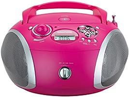 Grundig GRB 2000USB Digital 3W Rosa, Plata - Radio CD (Digital, FM, Jugador, CD,CD-R,CD-RW, 3 W, MP3,WMA)