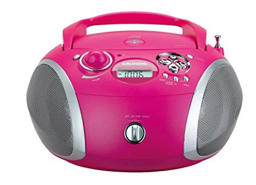 Grundig GRB 2000 Tragbare Radio Boombox pink/silber