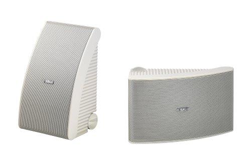 Yamaha NS-AW592 2-Wege Außenlautsprecher (150 Watt, 88 dB) 1 Paar weiß