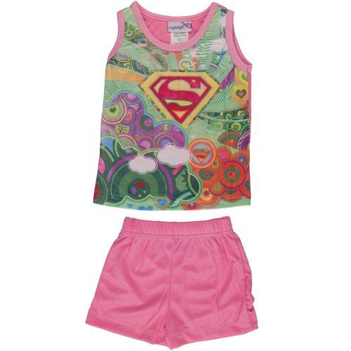 Supergirl Baby Mädchen (0-24 Monate) Zweiteiliger Schlafanzug Rosa Pink (Athletic Apparel Toddler)