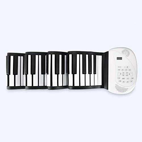 SG Klaviertaste 88 Taste Handrolle Klavier Neutrales Big Horn Zum Spielen der Tastatur Tragbare Kinder Anfängerversion,A