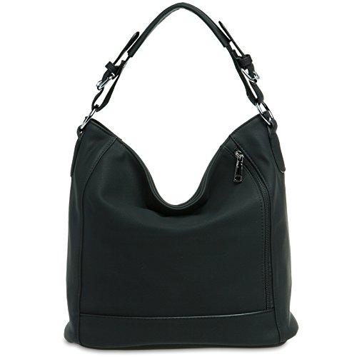 caspar-ts917-damentasche-handtasche-shopper-schultertasche-messenger-bag-hobo-bag-farbeschwarz