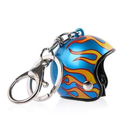 XX ecommerce Motorrad Helm Schlüsselbund für Schlüssel Kette Kreativ Persönlichkeit Star Flamme Leopard-Druck tarnen Logo Schlüsselbund Universal Schlüssel Ringe (012) -