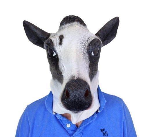 Rubber Johnnies TM Milch Kuh Tiermaske Film-qualität Kostüm (Milch Kuh Kostüm)
