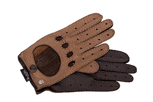 Roeckl Autohandschuh Peccary braun Gr. 9,5 - Klassische, Ungefütterte Handschuhe