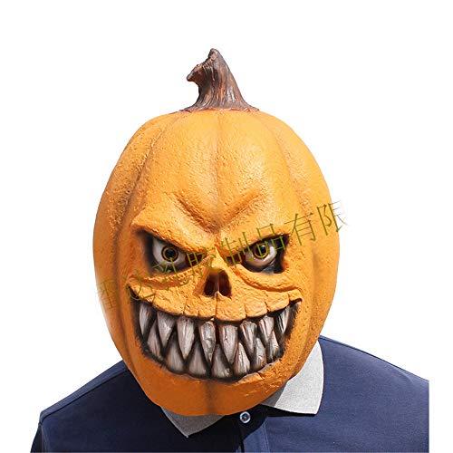 kin Bared Zähne Cosplay Halloween Party Realistische Latex Kopfbedeckung 3D Maske (gelb, M) ()