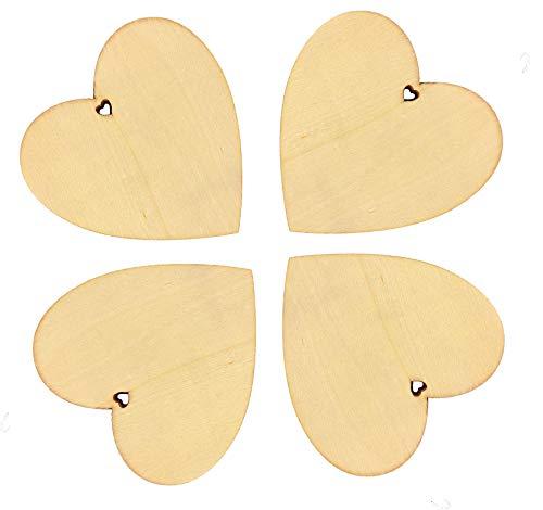 Blanko Holz Scheiben Bulk mit Löchern für Das Handwerk Aufsteller unlackiert Holz Weihnachten Einbauöffnungen Ornaments zu Malen 20 Pcs ()