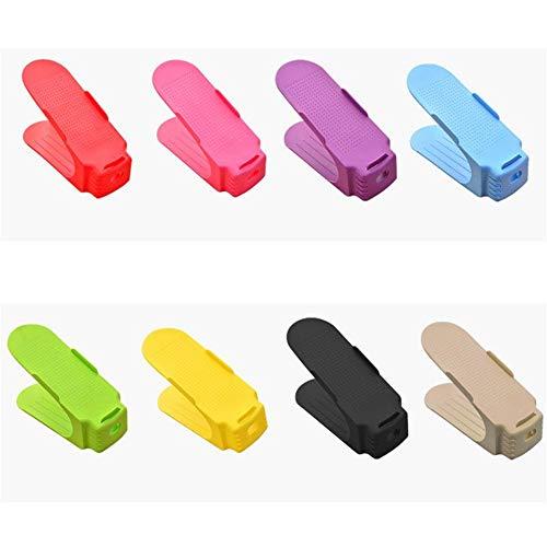 AFCITY Schuh Slots Organizer Raumwunder Schuh Veranstalter Packung mit 8 Closet Organizer für Männer und Frauen Schuhe für Sandalen Heels Schuhe Sneakers (Farbe : Mix Color, Größe : 25 * 10 * 6cm) (Größe 10 Heels Für Männer)