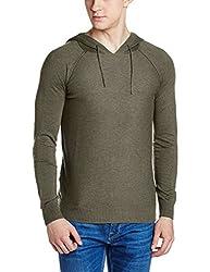 Gas Mens Cotton Sweater (8056775124252_876151692_Large_Green Savana)