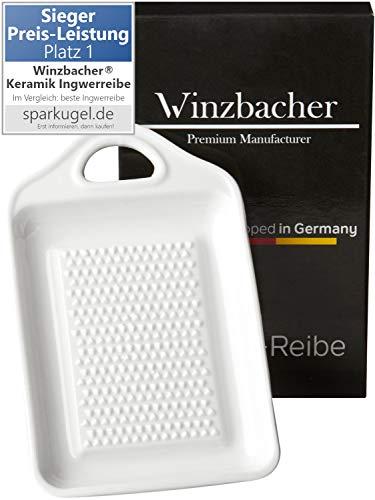 Winzbacher® - Keramik Ingwerreibe I ideal für Ingwer und Knoblauch I Spülmaschinenfest I Optimal für die Zubereitung von Ingwertee