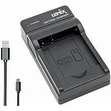 Lemix (BCK7) Chargeur USB Ultra Mince pour Batteries Panasonic DMW-BCK7E et pour appareils (listés ci-Dessous) Panasonic Lumix série DMC Series