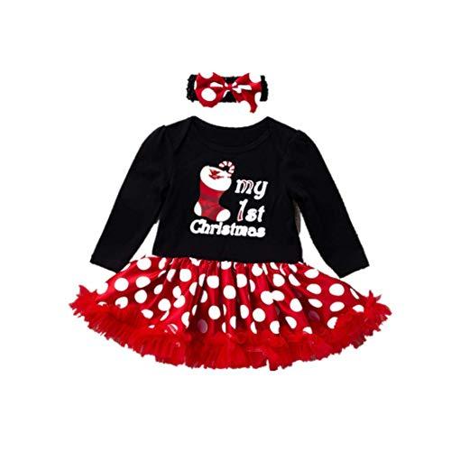 ZHRUI Kleinkind Baby Mädchen Kleidung, Casual Brief Gedruckt Langarm Kleid Mode Polka Dot Tüll Tutu Kleid Nette Patchwork Prinzessin Kleid für 3-18 Mt Neugeborenen Outfits Sets