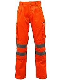 Fast Fashion - Pantalon Réflexion Polycoton Hi De Travail De La Sécurité De La Visibilité - Mens