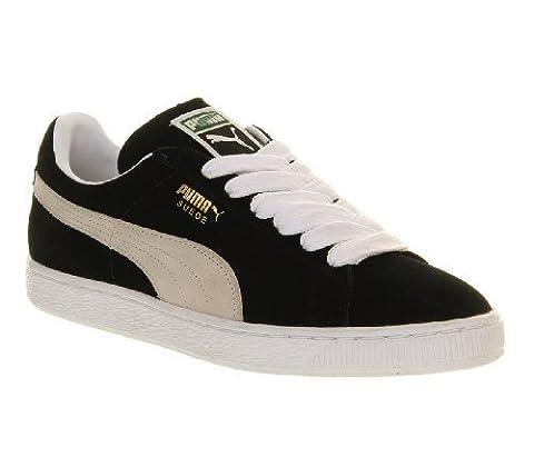 Puma Suede Classic+, Chaussures homme - noir - Noir/blanc, 41 EU