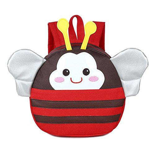 Baby Kind Kleinkind Kinderrucksack Kinder Rucksäcke Backpack Schultasche Rucksack Tasche mit Zügeln Leine Walking Sicherheitsgeschirr Red Bee Mxssi (Bee-kleinkind-spielzeug)
