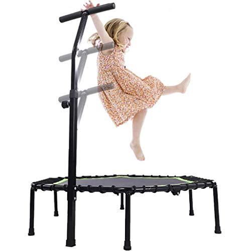 Bxxiu Handläufe 48 in faltbarem Innen- und Außentrampolin, tragbarer Trampolin-Rebounder mit verstellbaren Armlehnen, Sporttrampolin für Kinder und Erwachsene, für Fitness-Aerobic-Training