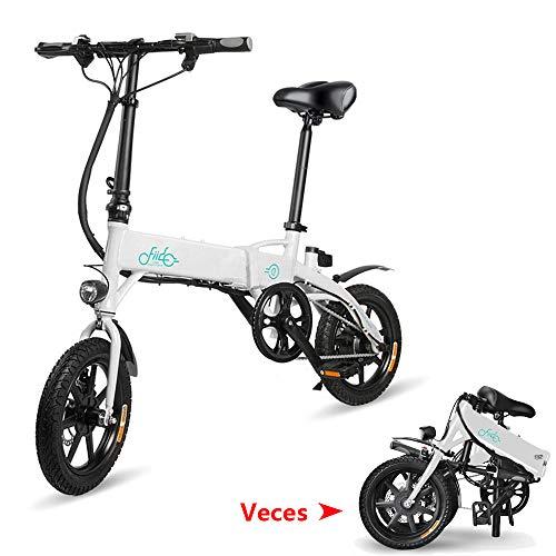 Phaewo Bicicleta eléctrica Plegable, D1 Ebike 10.4Ah Batería de Iones de Litio 250W Tres modalidades de Funcionamiento 14 Pulgadas con...