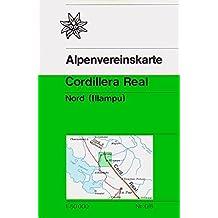 Cordillera Real Nord: Illampu - Topographische Karte 1:50.000 (Alpenvereinskarten)
