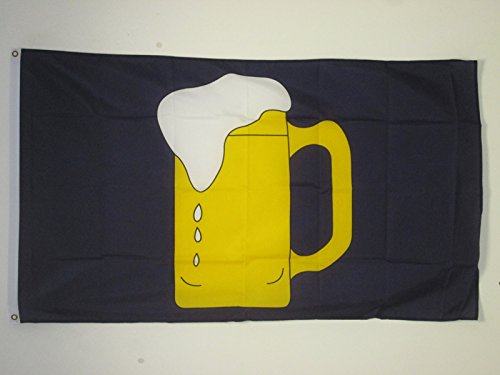 AZ FLAG Drapeau BIÈRE Jaune 150x90cm - Drapeau Bar 90 x 150 cm - Drapeaux
