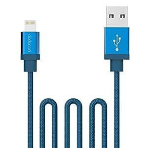 dodocool [MFi Certified] Lightning Cavo di Tela Intrecciata per USB Carica e Sincronizzazione 3,3ft / 1m per iPhone7,7plus,6,6plus,5 iPad aria 1/2 / iPad / iPod touch 5th Generazione / nano 7th Generazione Blu