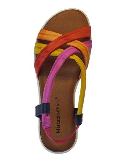 Mercante di Fiori  Lp433 Multicolor, Damen Sandalen Mehrfarbig